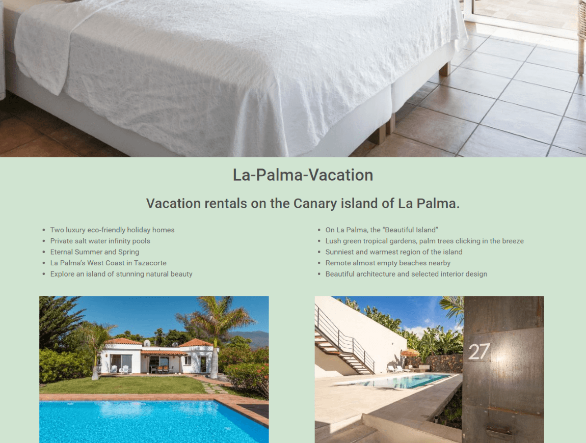 La-Palma-Vacation Vacation rentals on the Canary island of La Palma.