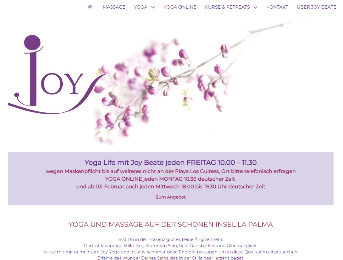 Joy La Palma Yoga & Massage